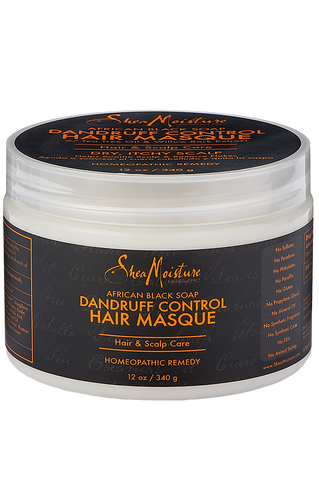 Shea Moisture African Black Soap Dandruff Control Hair Masque - total hair and beauty