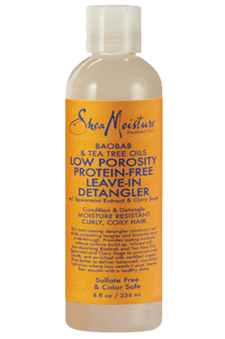 Shea Moisture Baobab & Tea Tree Oils Low Porosity Protein-Free Leave-In Detangler - total hair and beauty