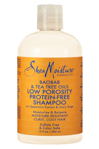 Shea Moisture Baobab & Tea Tree Oils Low Porosity Protein-Free Shampoo - total hair and beauty