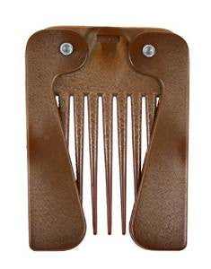 Denman Imitation Wood Folding Afro Comb - total hair and beauty