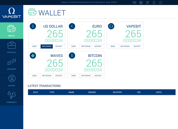 vapebit wallet