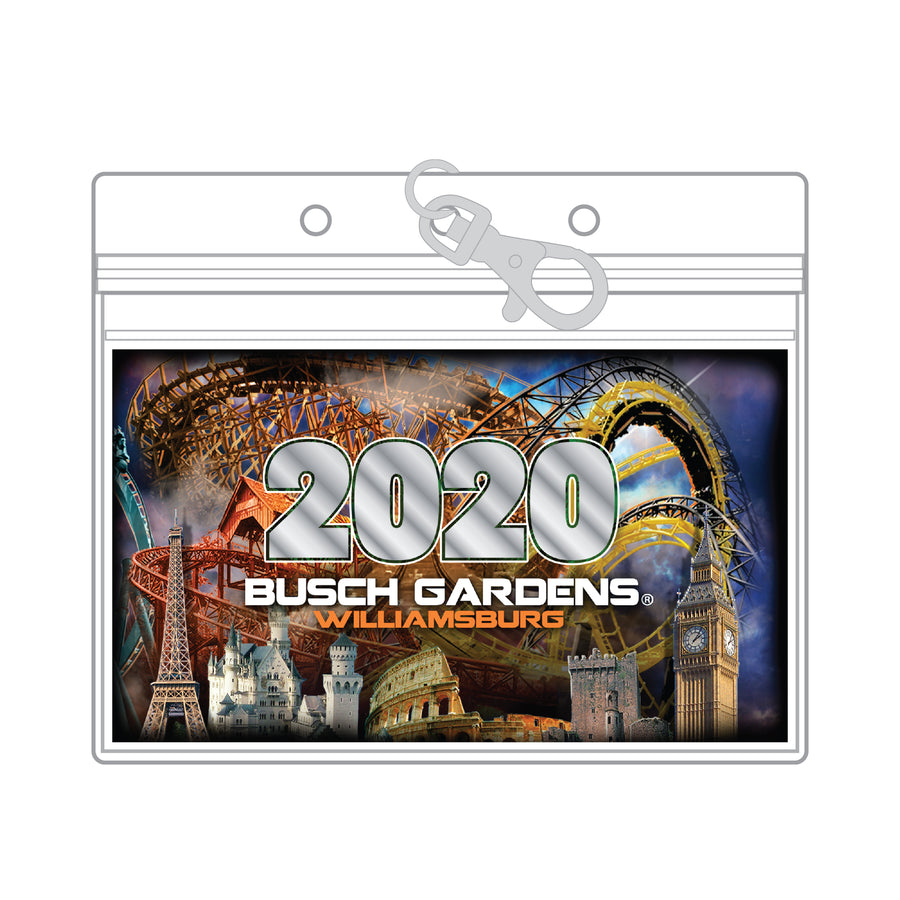 Busch Gardens Williamsburg Dated PVC Pouch