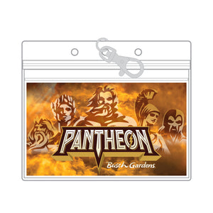Busch Gardens Williamsburg Pantheon Lanyard PVC Pouch