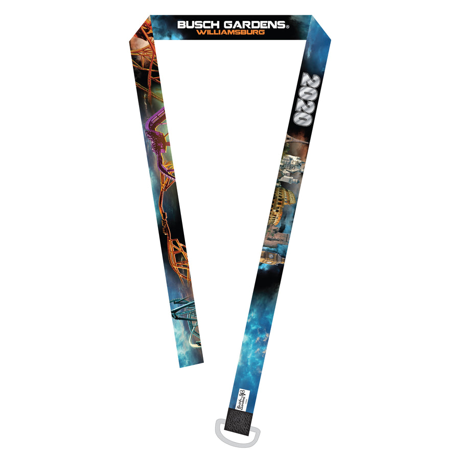 Busch Gardens Williamsburg Dated 2020 Lanyard