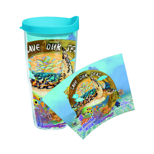 SeaWorld Exclusive Guy Harvey Saving the Seas Tervis Tumbler