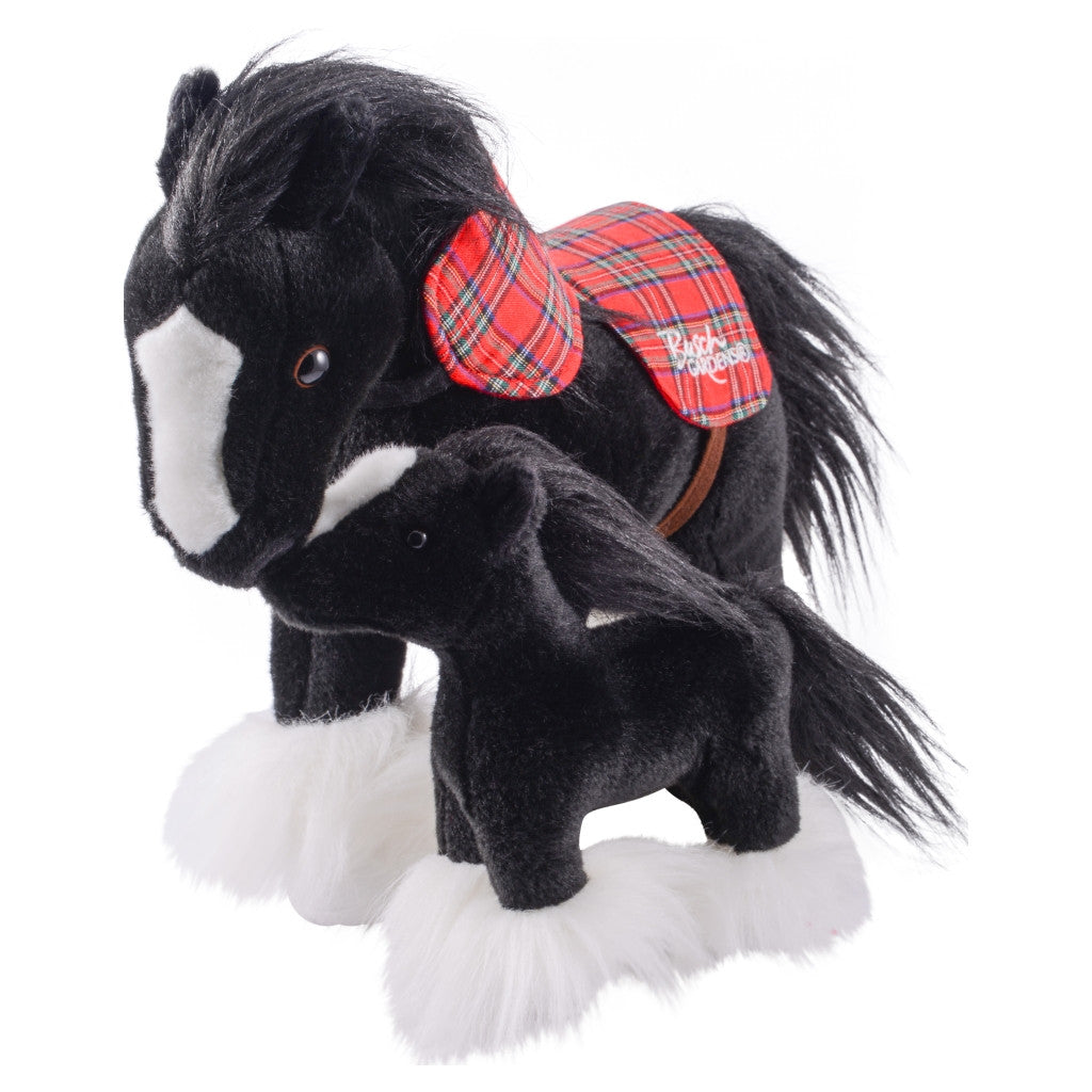 Mom and Baby Clydesdale Plush