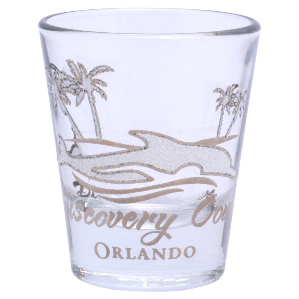Discovery Cove Iced Dolphin Shot Glass