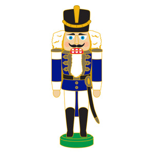 SeaWorld/Busch Gardens Nutcracker Soldier Blue Pin