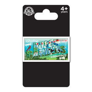 Busch Gardens Williamsburg Greetings Postcard Pin