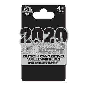 Busch Gardens Williamsburg Dated 2020 Membership SE Pin