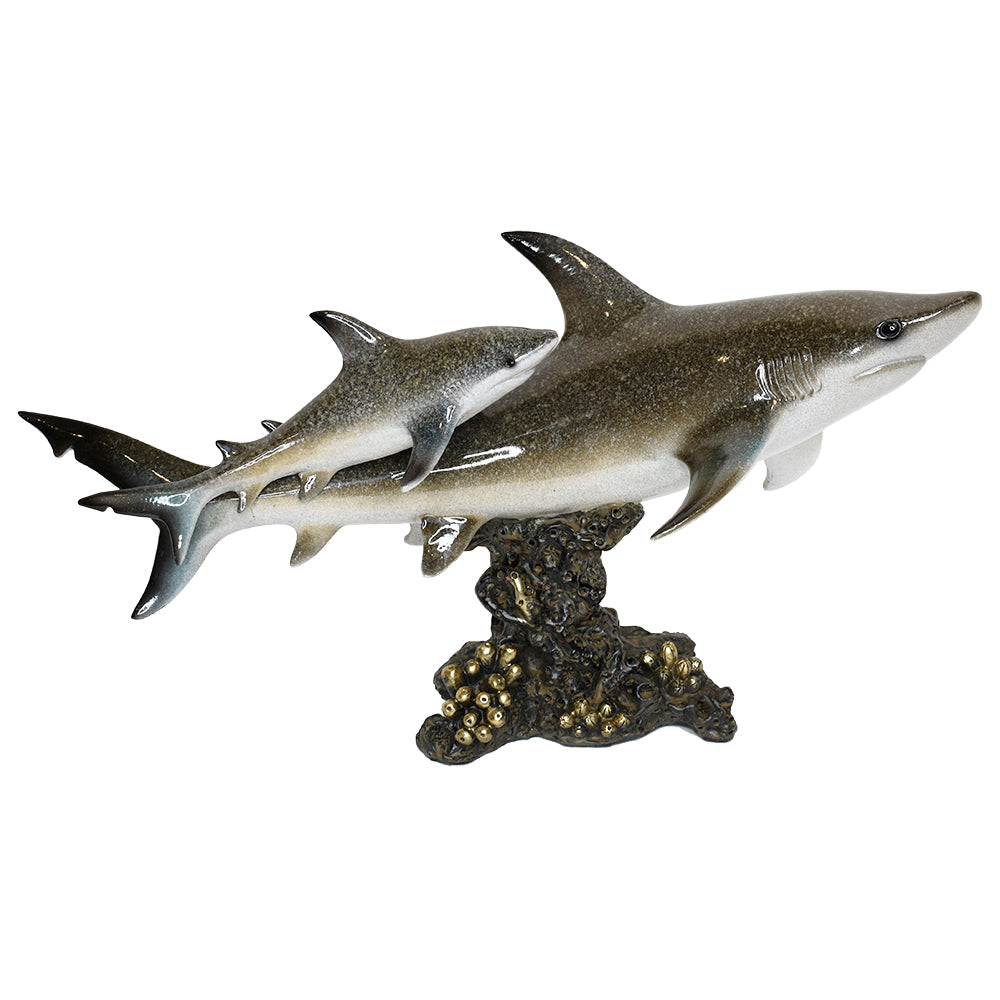 Resin Shark Figurine 17""