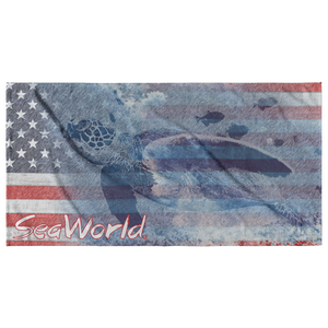 SeaWorld Americana Turtle Towel