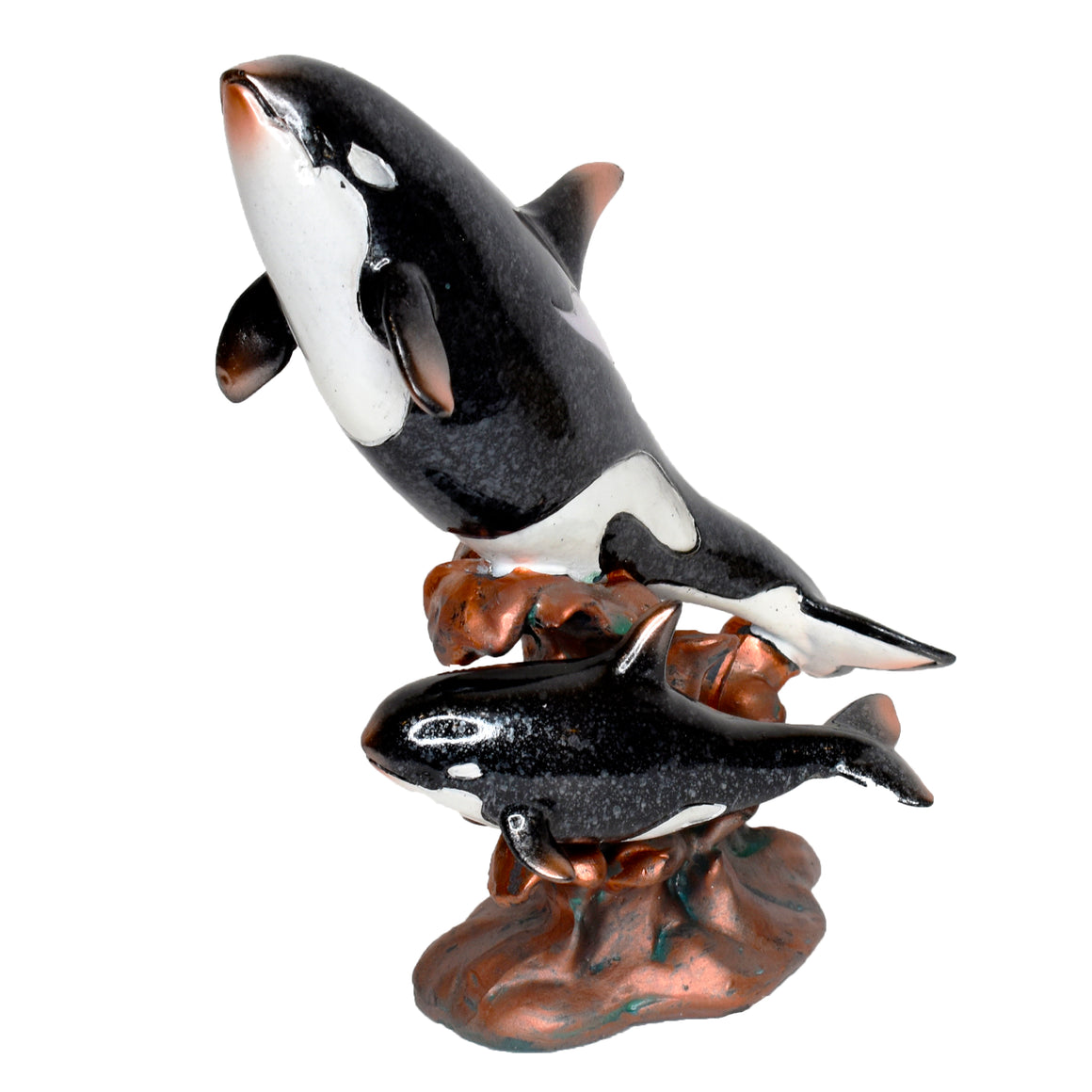 Resin Two Orcas Figurine