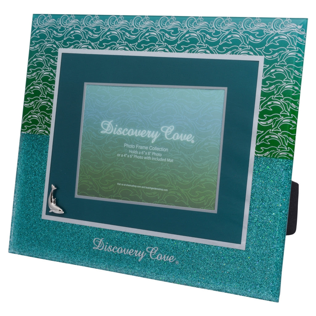 Discovery Cove Blue Green Glass 6 x 8 Photo Frame