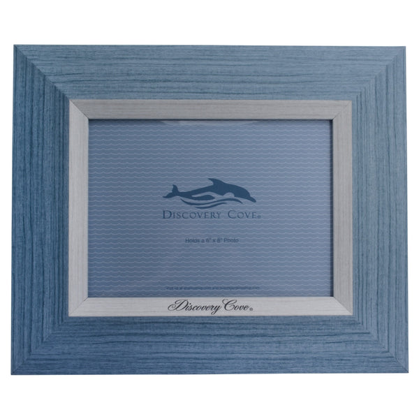 discovery cove blue 6 x 8 photo frame seaworld shop. Black Bedroom Furniture Sets. Home Design Ideas