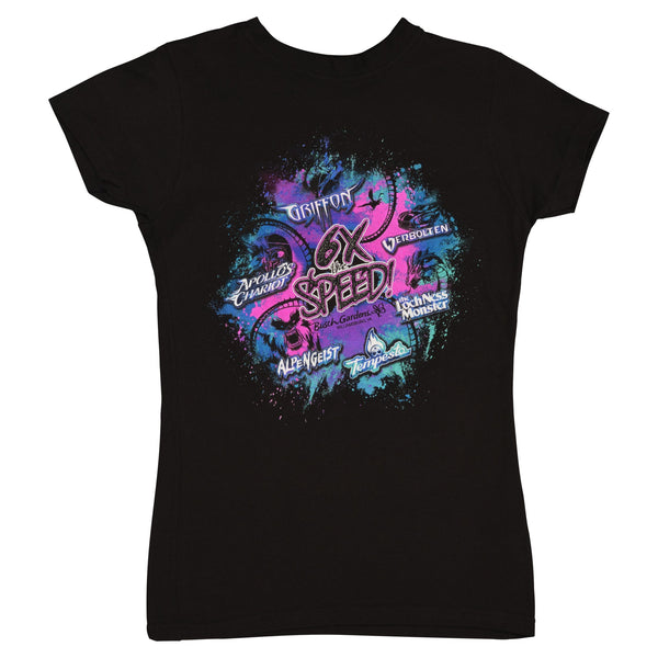 Busch Gardens Williamsburg 6 X's The Speed Black Junior Tee