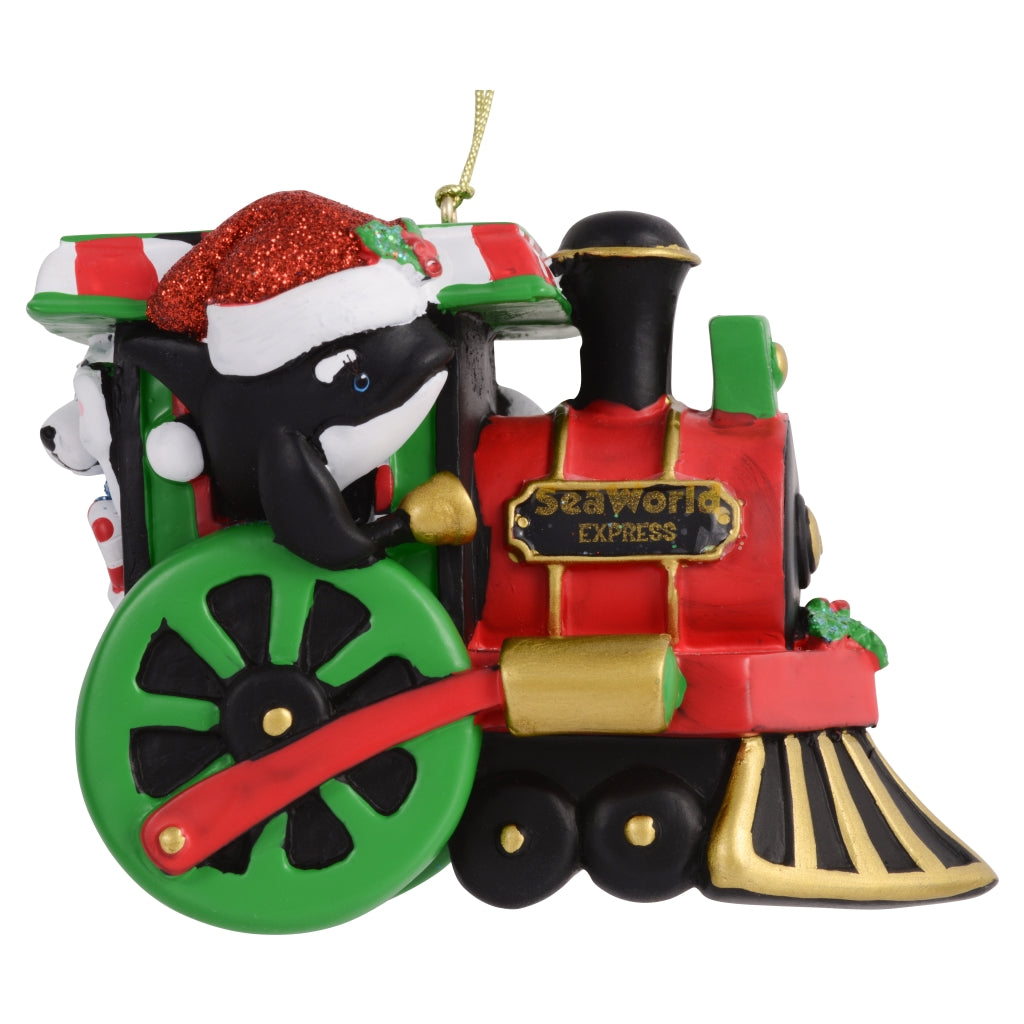 SeaWorld Character Train Resin Ornament