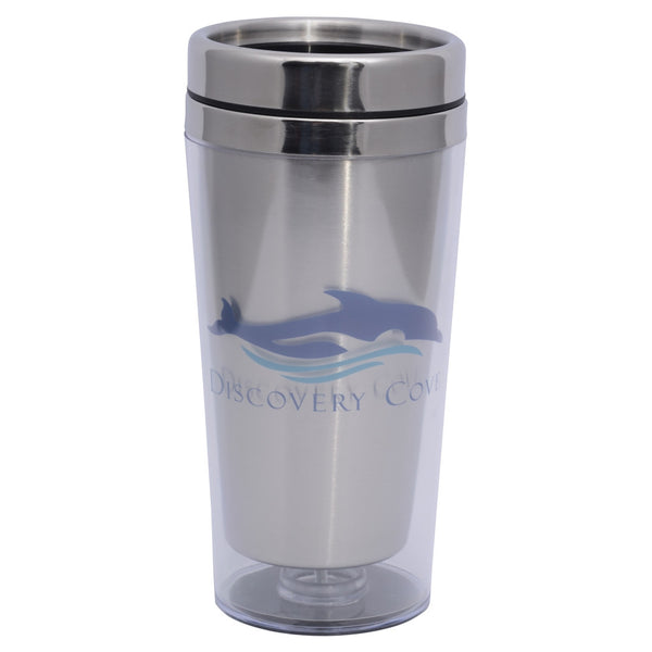 Discovery Cove Logo Stainless Tumbler