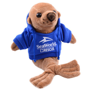 Sea Rescue Sea Lion Hoodie Plush 8""
