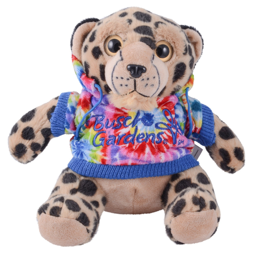 "Cheetah with Tie Dye Hoodie 8"" Plush"