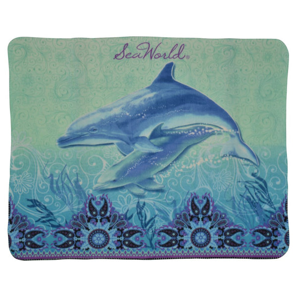 Bali Dolphin Light Weight Fleece Throw