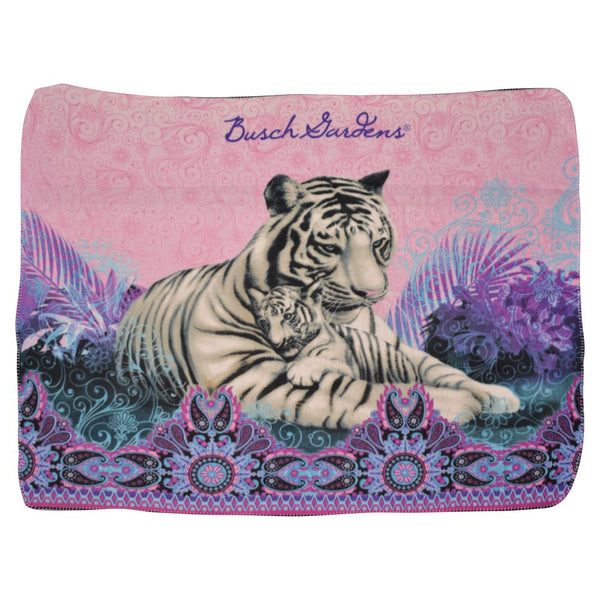 Bali White Tiger Light Weight Fleece Throw