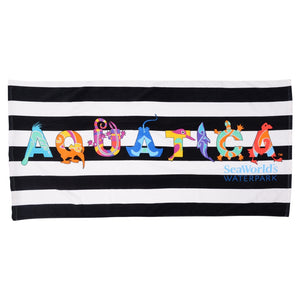 Aquatica Letters Beach Towel