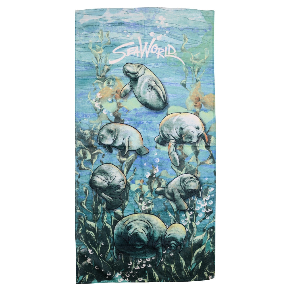 Manatee Watercolor Towel