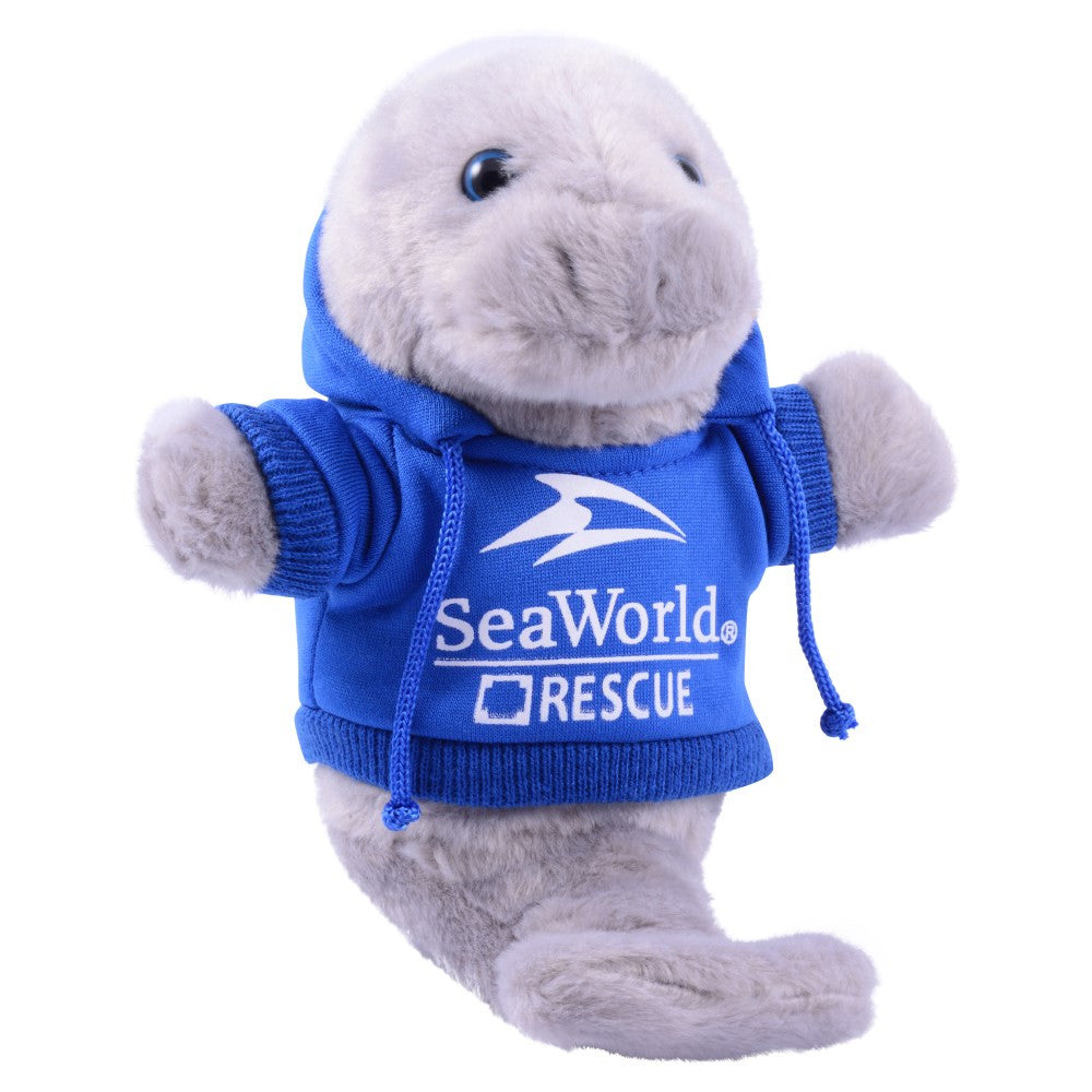 Sea Rescue Manatee with Hoodie Plush 8""