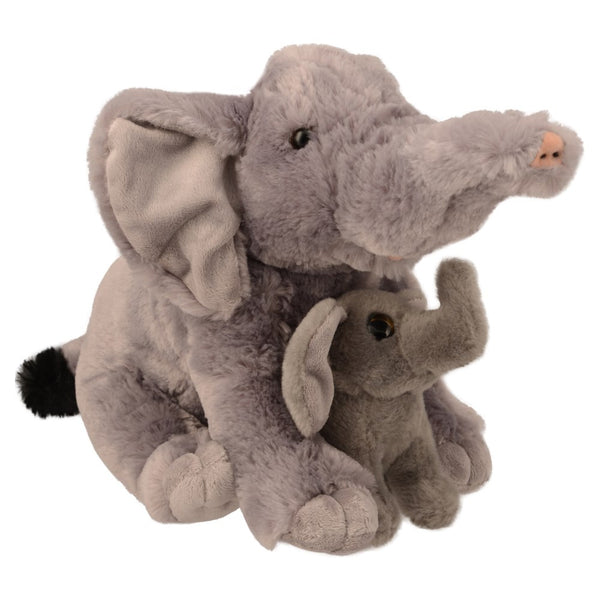 Mom and Baby Elephant Plush