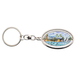 Aquatica Commerson's Dolphin Spinner Keychain