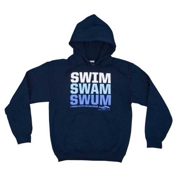Discovery Cove Swim Swam Swum Navy Adult Pullover Hood