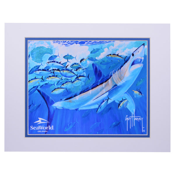 SeaWorld Exclusive Guy Harvey Mako and Tuna Print