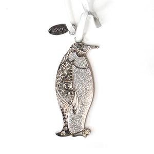 SeaWorld Rhinestone Glitter Penguin Ornament