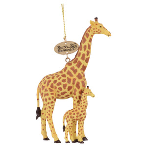 Realistic Giraffe Mom and Baby Ornament