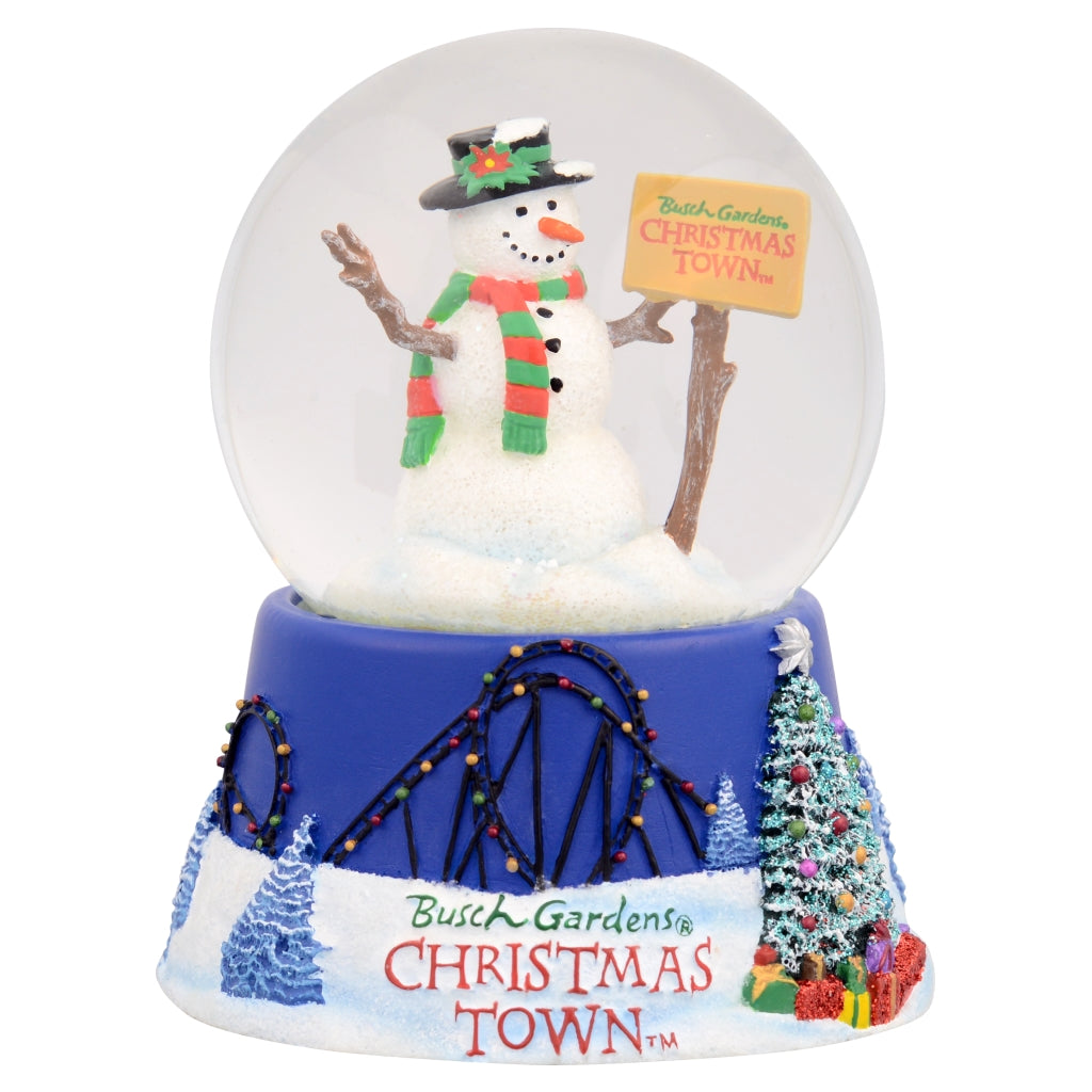 Busch Gardens Holiday Snow Globe