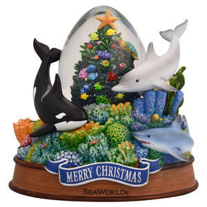 SeaWorld Christmas Tree Snow Globe