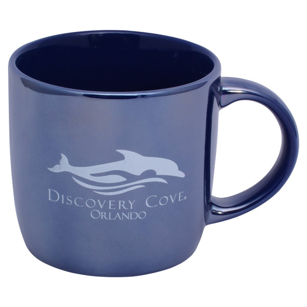 Discovery Cove Logo Blue Coffee Mug