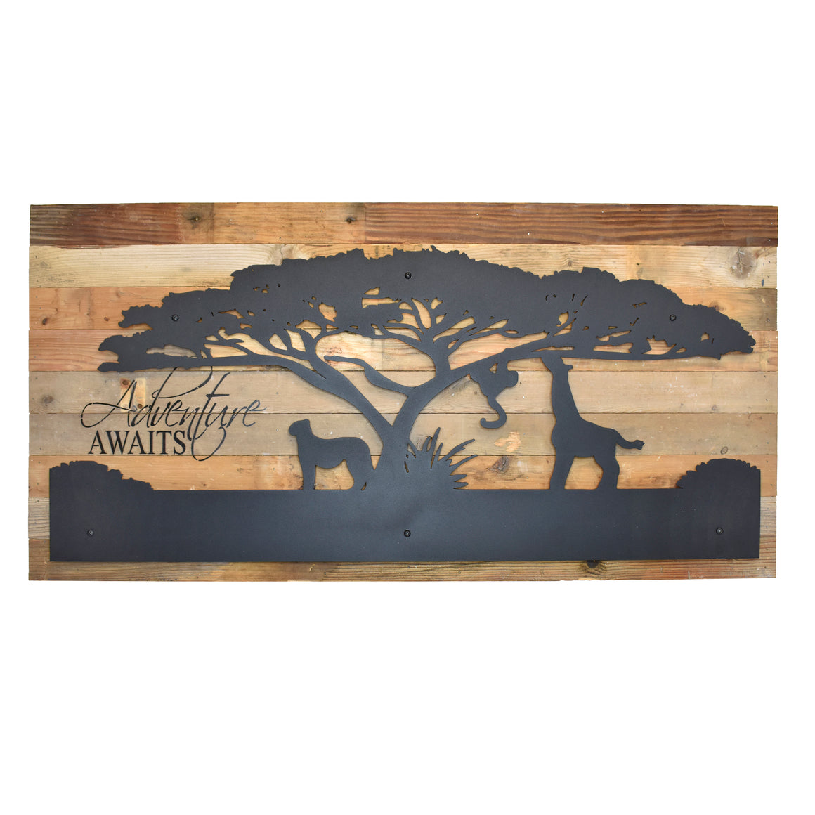 "Busch Gardens Adventure Awaits Metal Cutout Wall Art - 36"" x 18"""