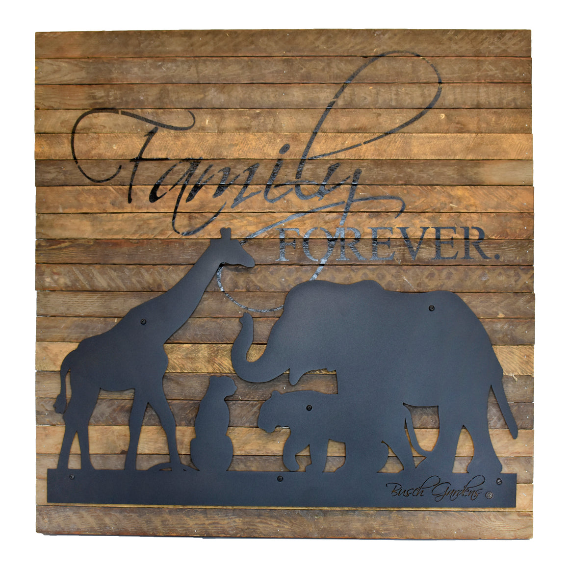 Busch Gardens Family is Forever Metal Cutout Wall Art - 28""