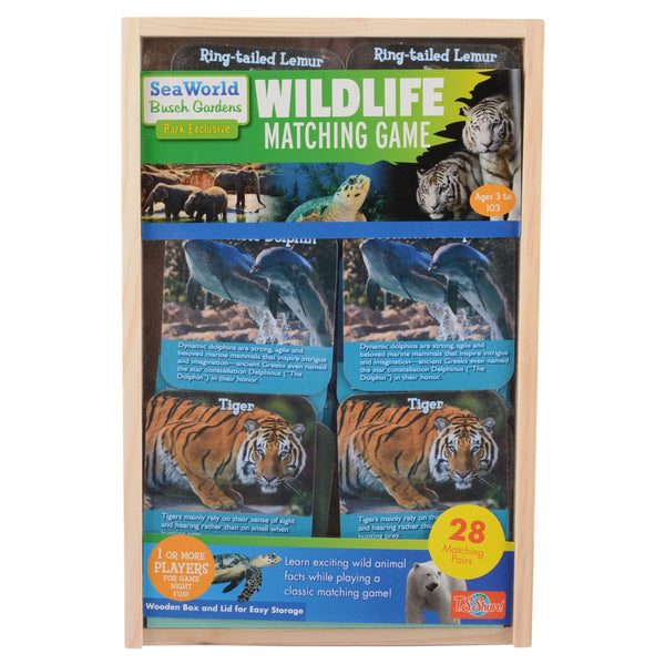 SeaWorld and Busch Gardens Wildlife Matching Game