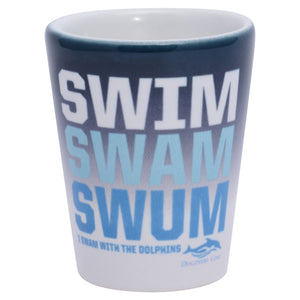 Discovery Cove Swim Swam Swum Shot Glass