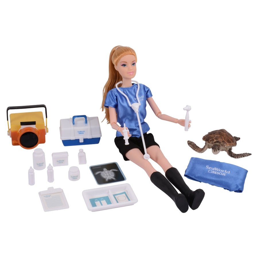 SeaWorld Sea Rescue Blonde Doll Playset