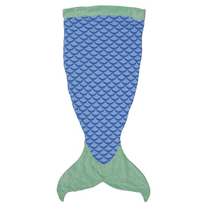 SeaWorld Blue Mermaid Tail Blanket