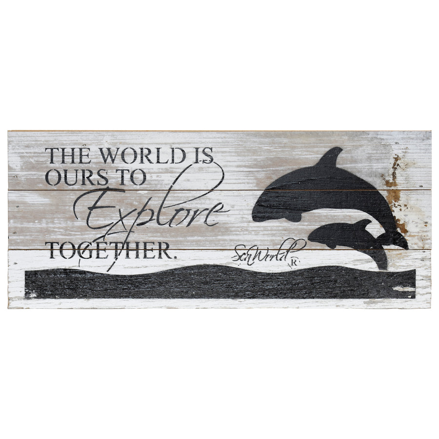 "SeaWorld Orca The World Is Ours Wall Art - 14"" x 6"""