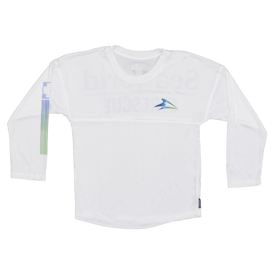 SeaWorld Rescue Performance Long Sleeve White Youth Tee