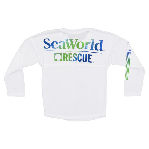 SeaWorld Rescue White Long Sleeve Adult Performance Tee