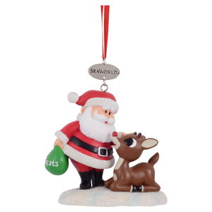 SeaWorld Santa & Rudolph Ornament