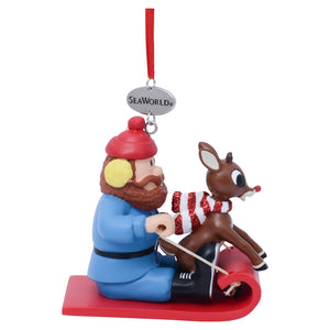 SeaWorld Yukon Cornelius with Rudolph Ornament
