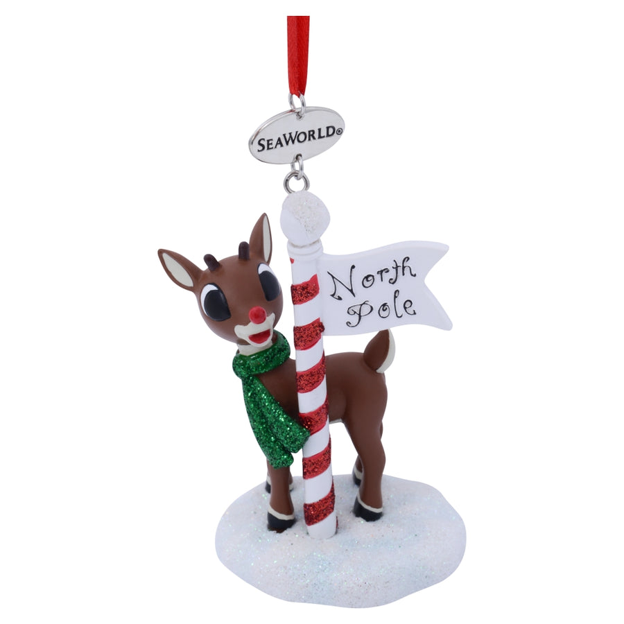 SeaWorld Rudolph North Pole Resin Ornament